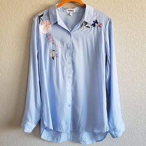 """Express   """"The City Shirt"""" Embroidered Button Down"""